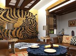 Африканская стилизация интерьера