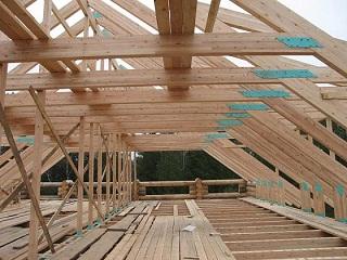 Постройка крыши для деревянного дома