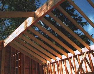 Изготовление стропил для крыши